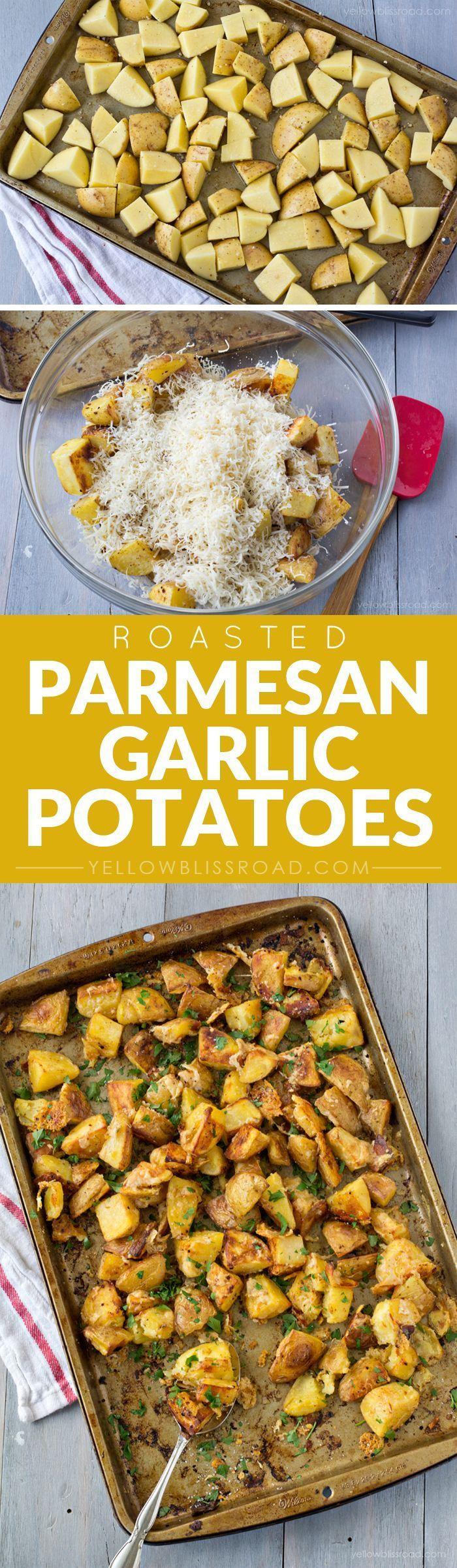 Oven Roasted Parmesan Garlic Potatoes | Recipe | Potatoes ...