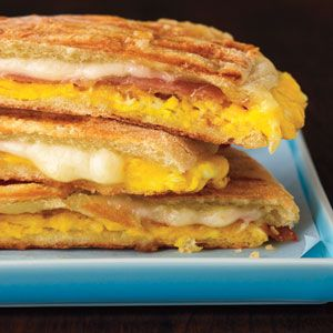 Prosciutto and Egg Panini | MyRecipes.com Don't care for Prosciutto so I used Canadian bacon. Tasted great!