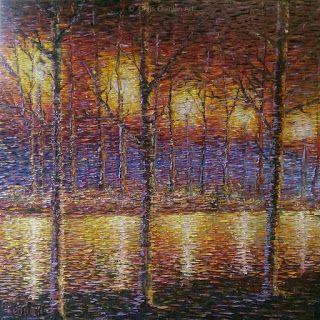 Chris Quinlan Art: Impressionist River Painting by Chris Quinlan Art