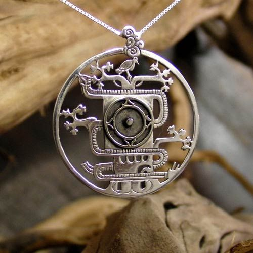 Mayan World Tree Pendant Silver - Ancient Symbol of the ...