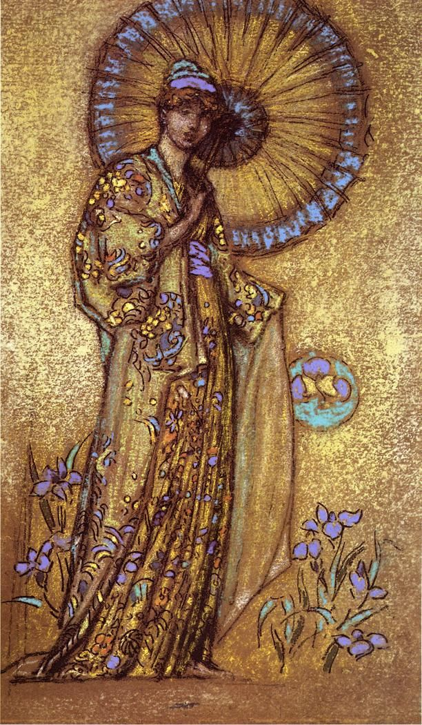 The Athenaeum -WHISTLER, James McNeill  American Tonalist Painter and Printmaker (1834-1903)_Design for a Mosaic - 1888-1891