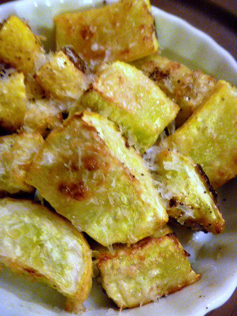 Slice of Southern: Roasted Parmesan Summer Squash   – food
