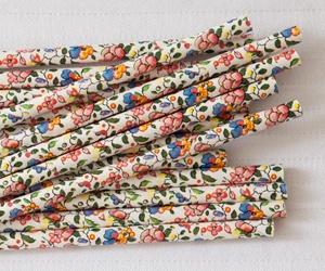 Paper Straws Floral Orange and Blue 25 pack