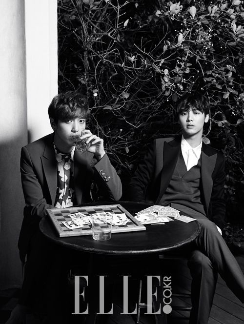 C.N Blue - Elle Magazine March Issue '14 #yonghwa #minhyuk