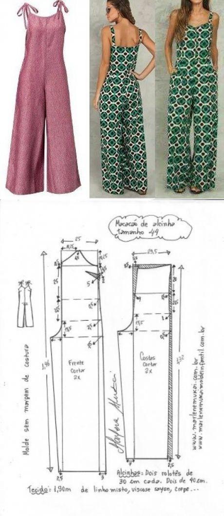 Macacão de alcinha | DIY - molde, corte e costura - Marlene Mukai ...