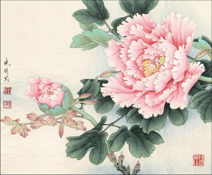 How to paint an oriental flower