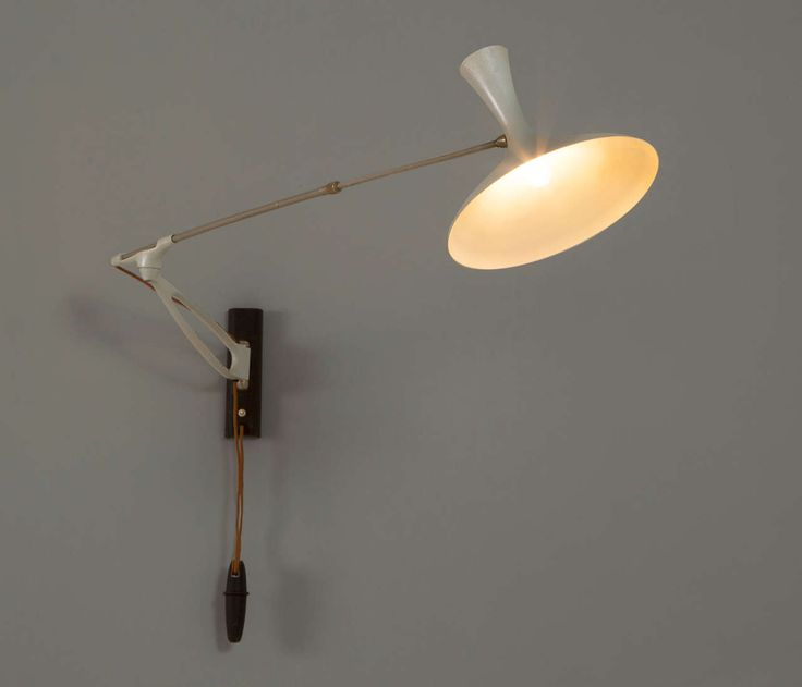 93 best wall lamps mid century lighting images on pinterest adjustable wall light by louis kalff aloadofball Choice Image