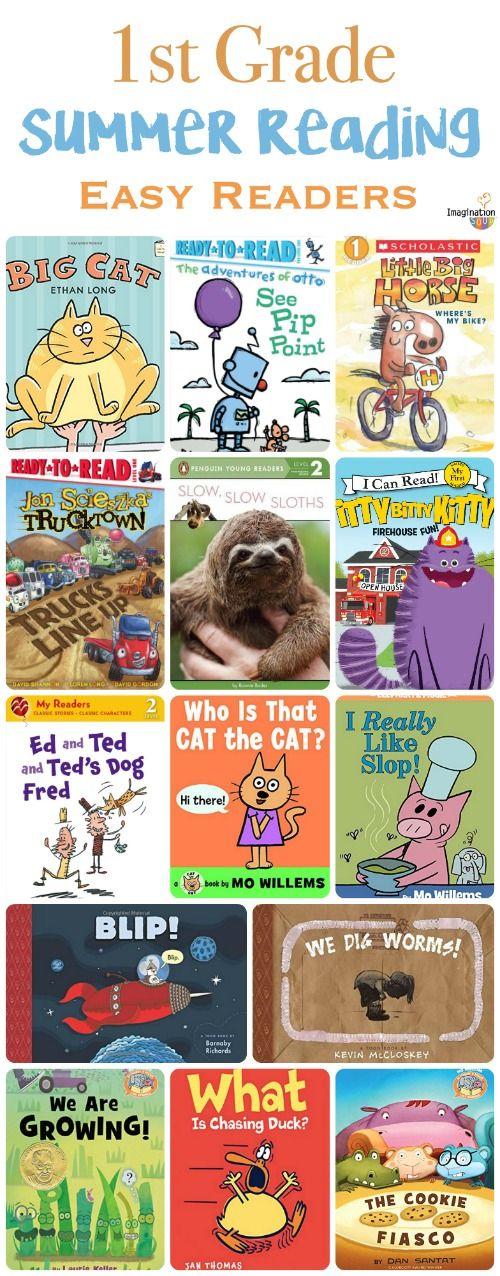 free printable! Summer reading list for 1st grade -- easy readers plus easy chapter books!!