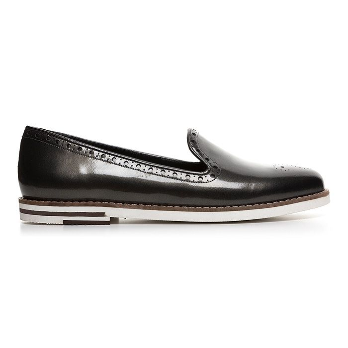 107E02_GREY PATENT www.mourtzi.com #grey #silver #patent #slipons #flat_shoes #mourtzi