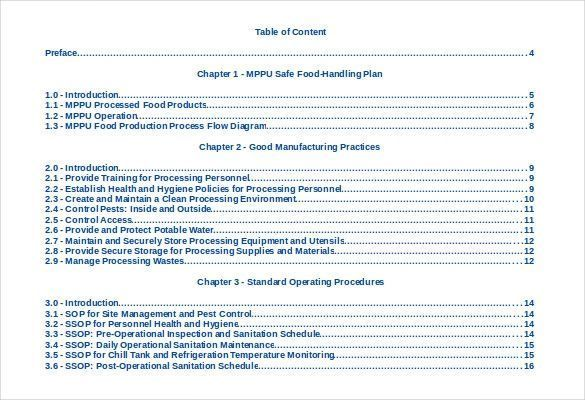 Table Of Contents Template Fresh 24 Table Of Contents Pdf Doc Of