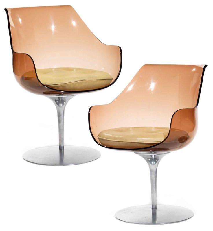 Estelle & Erwine Laverne, Champagne chairs for Formes Nouvelles, France, 1957