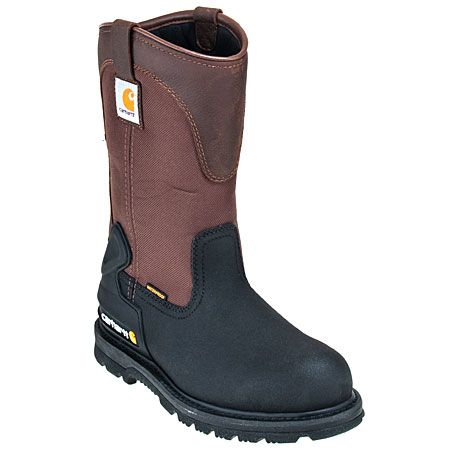 Carhartt Boots Men's Brown CMP1259 Steel Toe Insulated Pull On Boots