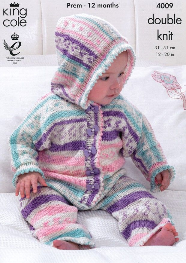 All In One, Jacket and Socks in King Cole Cherish DK (4009) | Deramores