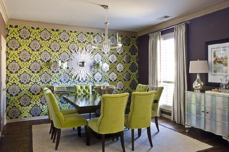 Purple Accent Wall - Dining Room