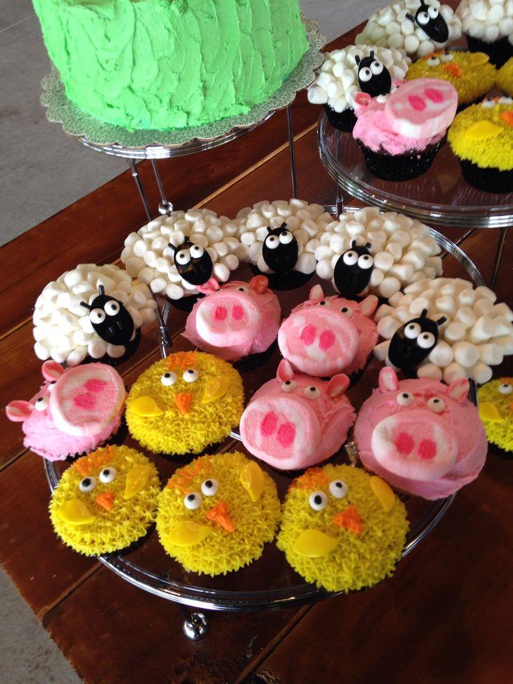 Farm Animal Cupcakes My Creations Pinterest The O
