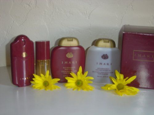 Avon Imari 4-piece Gift Set: Imari Eau de Cologne, 35 ml, Imari Eau de Toilette, 30 ml, Imari Rich Indulgence Body Lotion, 200 ml, Imari Shower Gel, 200 ml./ VERY HARD TO FIND/ LIMITED EDITION/ DISCONTINUED. by Avon. $45.00. PLEASE BE ADVISED THE PRODUCT PACKING MAY DIFFER FROM BOTTLE TO TUBE BEING THE SAME ITEMS' QUANTITIES AND SIZES (LAST LAUNCHED EDITIONS OR HOLIDAY SETS) Imari by Avon is a Floral Aldehyde fragrance for women. Imari was launched in 1985. Top ...