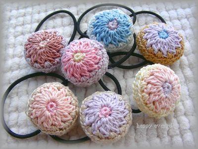 丸モチーフのヘアゴムの作り方|編み物|編み物・手芸・ソーイング