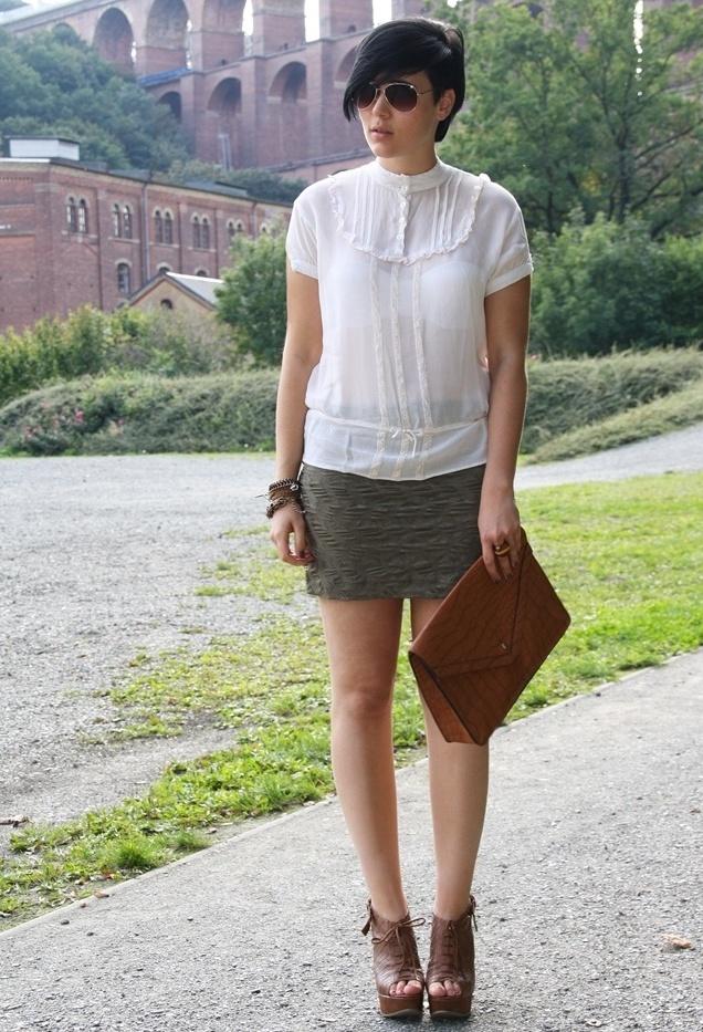 take me to the place I love , Only en Camisas / Blusas, H&M en Faldas, Rock-kleidung.com en Clutches, Primark en Tacones / Plataformas