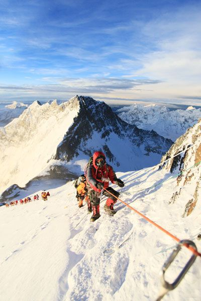 Climbing Mt. Everest - extreme beauty seeking! Whew! So awesome though.