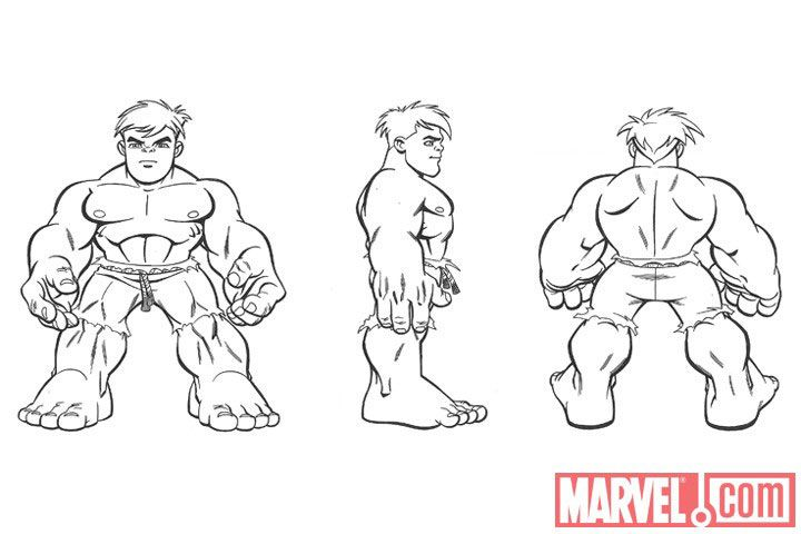 marvel hero squad coloring pages - photo#34