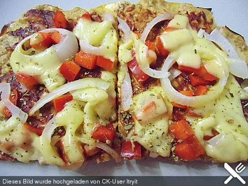 Low Carb Pizza  Thunfisch, Eier, Hüttenkäse