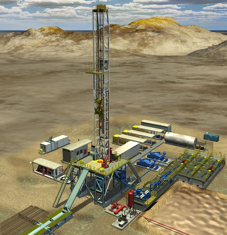 3D oil & gas land rig drilling #graphics for #Honeywell. These ...