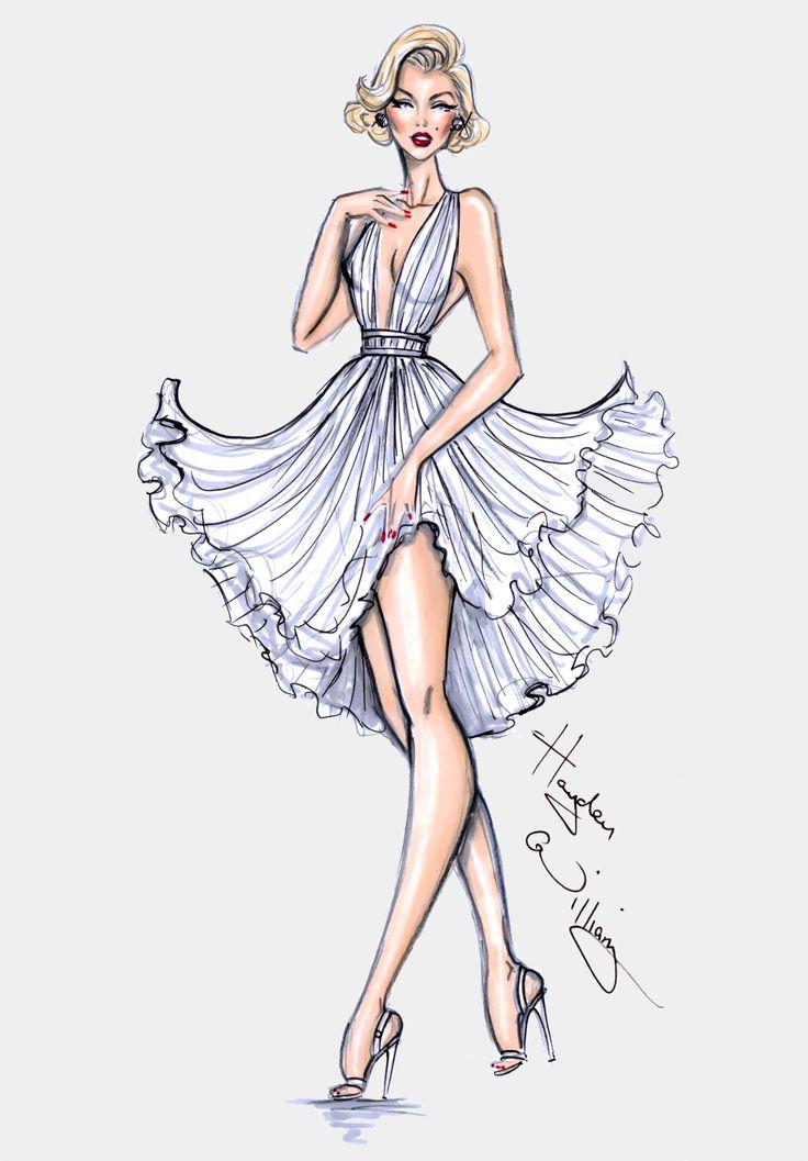 Hayden Williams Fashion Illustrations | Happy Birthday Marilyn! By Hayden Williams