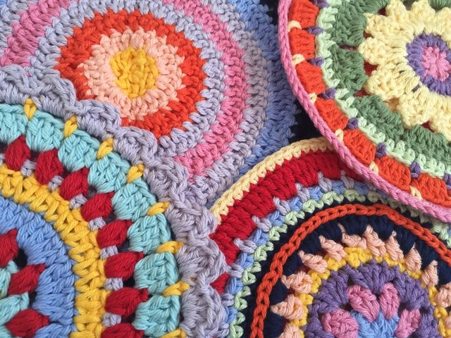 Colorful #Crochet MandalasForMarinke
