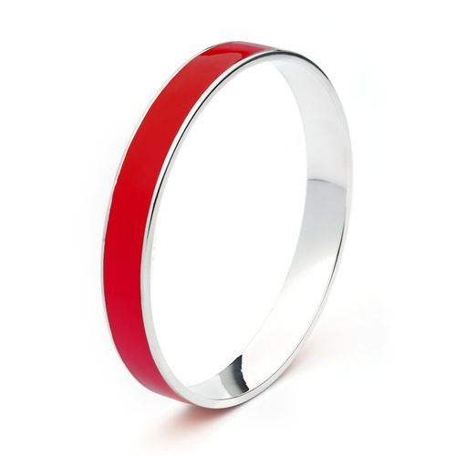 Red Hot Enamel Statement Candy Bangle
