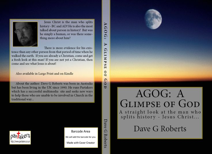 Our latest book!  AGOG: A Glimpse Of God. 210 pages. Regular & Large Print. Amazon £6.99 - US$9.99 / http://www.amazon.co.uk/dp/1508490902 Kindle £2.00 - US$2.98 / http://www.amazon.co.uk/dp/B00WJ08MTU/  To be agog is to be filled with excitement and expectation! Hence our title of this book exploring the man who splits history - Jesus Christ! Suitable for those exploring Christianity as well as those who have been a Christian for a short while or for many years!