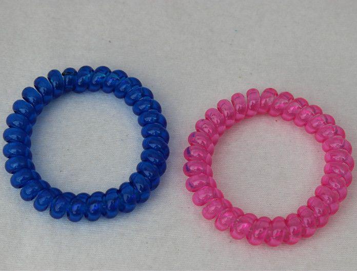 Цвет послал at произвольный 10 шт. сплошной взрослые женщины резинки для волос сладкий конфеты цвет телефон веревка волос кольцо 5