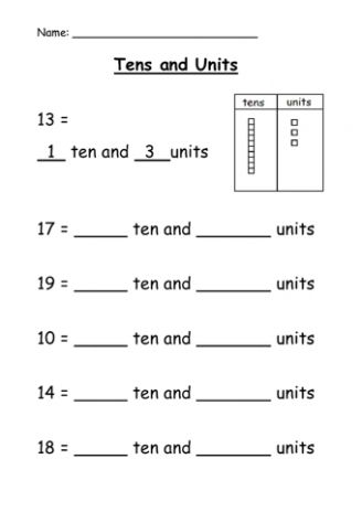 top 25 best tens and units ideas on pinterest tens and ones 1 tens and place value in maths. Black Bedroom Furniture Sets. Home Design Ideas