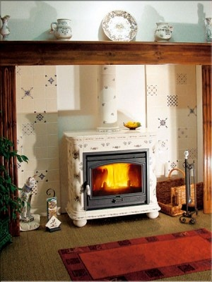 Poele ceramique cheminees fireplaces pinterest - Poele a bois ceramique regnier ...