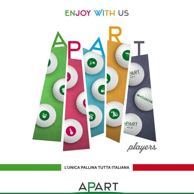 Apart Players! Have fun!  #golfballs #golf #apartgolf #apartattitude #golfaholic #havefun