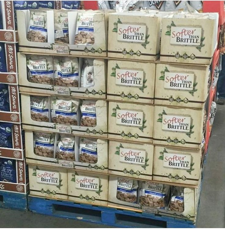 Someone has spotted us at that their local Costco in Ohio!! Look for Softer Than Brittle in Costco locations throughout  the Midwest!!! 24oz bags of our special peanut free version, Almond with a hint of Cinnamon! 😄😄😄😄😄😄😄 #peanutfree #vegan #SofterThanBrittle #softbrittle #Costco #getyours #dairyfree #glutenfree #almond #cinnamon #delish #bigbag #stockup #whatveganseat #smallbatch #family #grandma #history #love