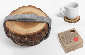 Posavasos de madera natural