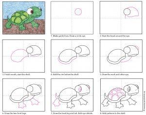 Draw a Cartoon Turtle