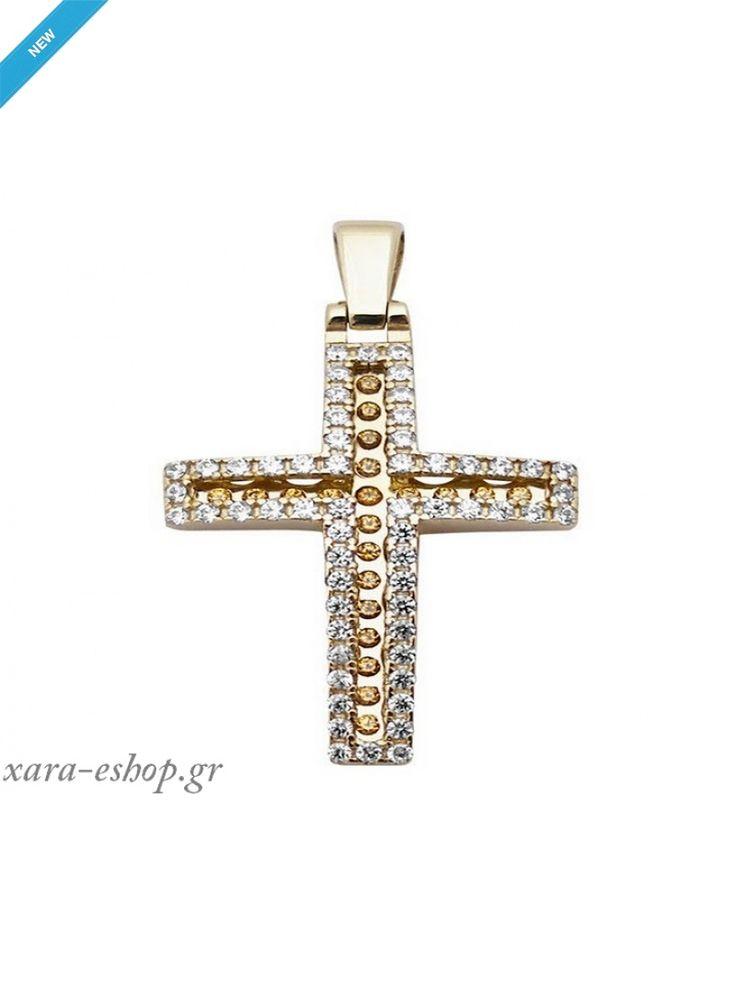 Χρυσός Σταυρός Βάπτισης Κορίτσι 51712