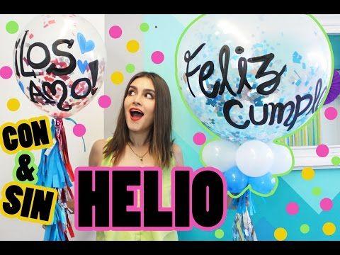 GLOBOS CONFETTI GIGANTES DECORADOS   ¡CON Y SIN HELIO!   SUSIDEAS💡 - YouTube