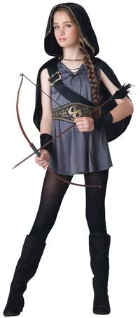 Hooded Huntress Tween Girls Costume - I wanna wear this and call myself a Hunter of Artemis!!!!!!