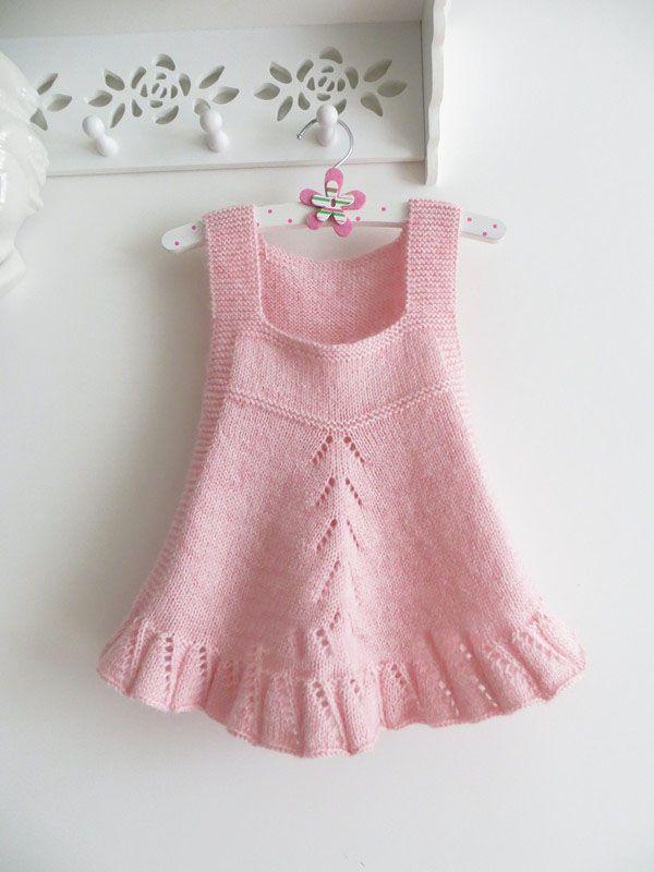 El Orgusu Pembe Bebek Elbisesi 1 Baby Knitting Patterns Dantel Isleme Orgu