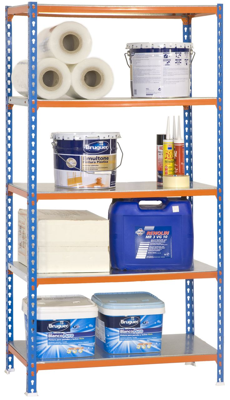 Industrial Metal Shelving 79 X 40 X 16 5 Galvanized Shelves Blue Simonclick 5 400 Plus Metal Shelves Galvanized Shelves Shelving