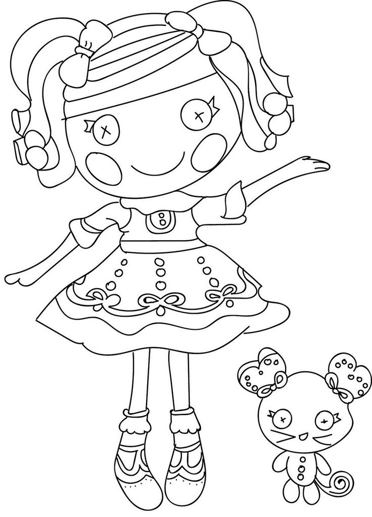 printable lalaloopsy and pet pals coloring pages