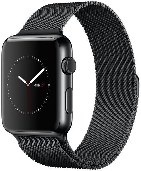 Apple Watch 42mm Space Black Stainless Steel Case with Space Black Milanese Loop