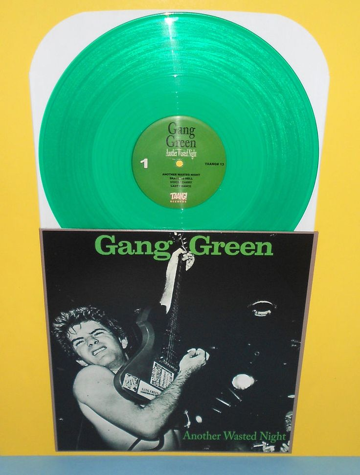 GANG GREEN another wasted night LP Record GREEN Vinyl , punk , Taang records #PostRockPUNK