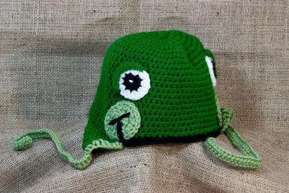 Crochet Frog Hat Infant Frog Hat Crochet Kids Hat by BadHatCat