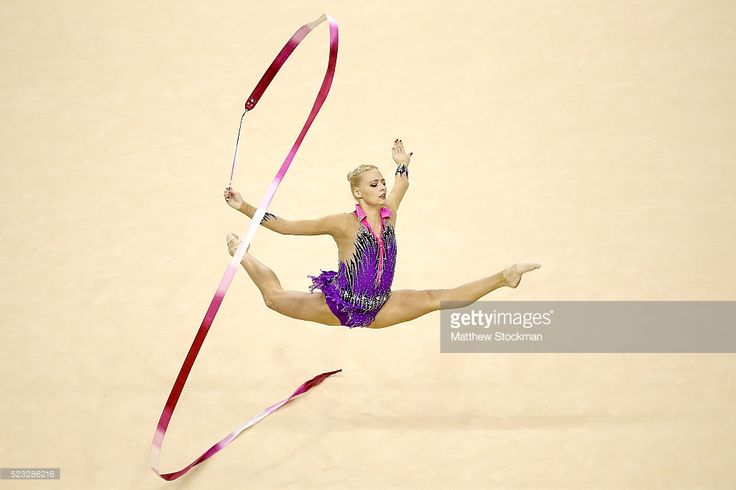Nicol Ruprecht of Austria competes during the Rhythmic Gymnastics Individual All-Around final at the Final Gymnastics Qualifier - Aquece Rio Test Event for the Rio 2016 Olympics - Day 6 at the Rio Olympic Arena on April 22, 2016 in Rio de Janeiro, Brazil.