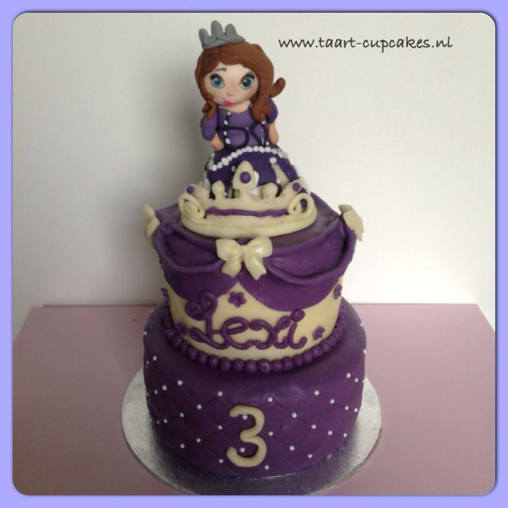 Prinses Sofia taart / princess Sofia cake #prinses #taart #Sofia #disney