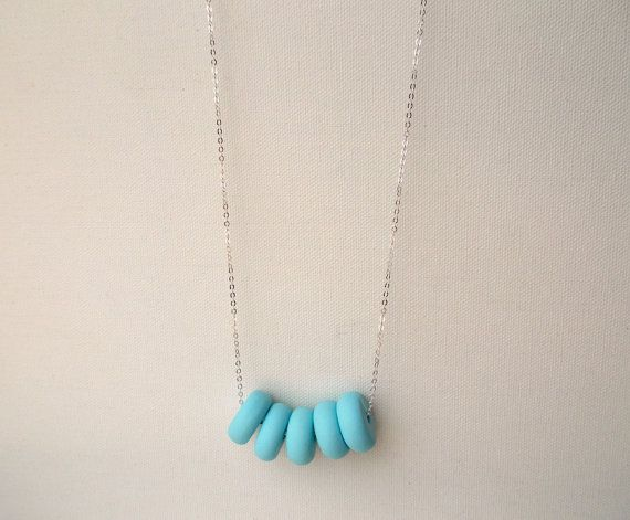 Handcrafted polymer clay necklace in Langit by craft & folk  https://www.etsy.com/ie/listing/219489093/langit-handmade-polymer-clay-necklace?ref=related-3