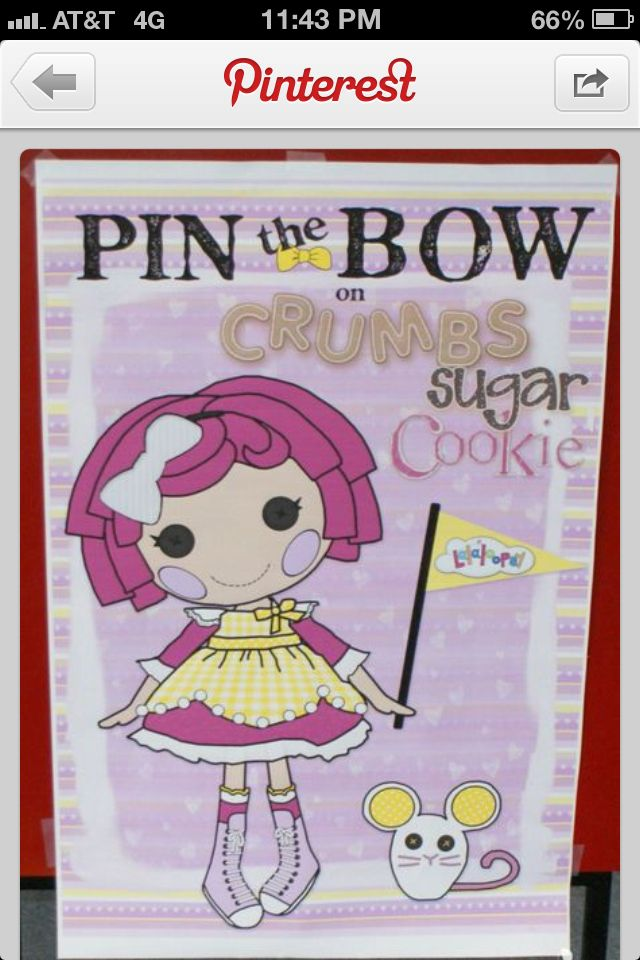 Pin the bow on crumbs!